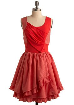 Memphis Style Dress - I love coral colors
