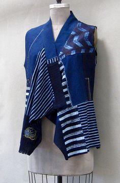 Indigo Cotton Vest - Front