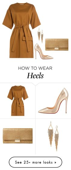 """""""Sem título #2714"""" by mprocedi on Polyvore featuring Christian Louboutin, MSGM, Furla and ABS by Allen Schwartz"""
