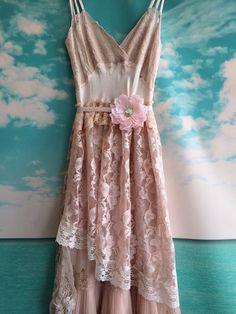 antique pink & whisper pink silk charmeuse by mermaidmisskristin