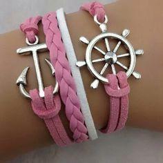 Pulseras de moda color rosa