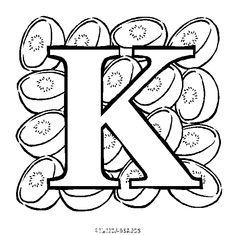 coloriage Lettres à colorier alphabet fruit gratuit - Alphabet, chiffres et lettres