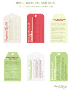 Printable tags for Gingerbread Cookies in-a-Jar