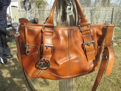 65eb7f74420016 Michael Kors Brown Brookville Large Leather Crossbody Tote Bag Handbag # MichaelKors #ShoulderBag Michael Kors