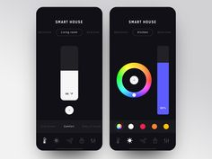 Smart House App Interface designed by Gregory Loshakov. Ui Ux Design, Interface Design, House App, Car App, Screen Design, App Ui, Mobile Ui, Smart Home, Creative Design