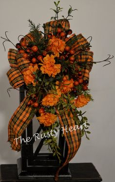 Fall Lantern Swag by TheRustyHeart on Etsy, $21.99
