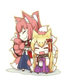 Tamamo And Yao(Monster Girl Quest)