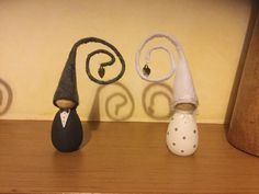 The Wedding Couple, Bride & Groom, they can be used as keepsakes as well as Wedding Cake Toppers. We also have Anniversary Nisse celebrating each year of marriage.