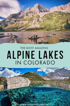 29 Jaw-Dropping Alpine Lakes in Colorado You've Got to Hike Colorado is famous for its beautiful alpine lakes, and if Estes Park Colorado, Vail Colorado, Colorado Chevy, Winter Park Colorado, Pueblo Colorado, Breckenridge Colorado, Colorado Lakes, Road Trip To Colorado, Colorado Mountains