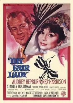 My Fair Lady, I love this movie, and the strength Eliza has, despite everyone always treating her as a second-class citizen. I like that she takes the overconfident Henry Higgins down a peg before she shows show cares about him. :')