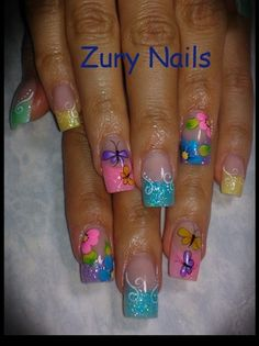 Colorful by ZuryNails - Nail Art Gallery nailartgallery.nailsmag.com by Nails Magazine www.nailsmag.com #nailart