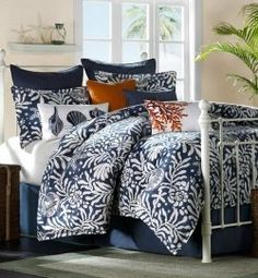 Colorful Beach Bedding evokes the carefree days of summer and sunny days at the beach. Included are beach bedding ensembles with Beach Comforters...
