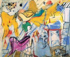Willem de Kooning, Abstraction, 1950 on ArtStack #willem-de-kooning #art