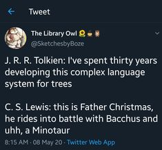 Lewis: Mixes irl Greek and Roman myths. Tolkien: Makes up fifteen languages that are not interchangeable in the slightest. Also tracks the phases of the moon with pretty solid accuracy. Narnia Movies, Dungeons And Dragons Memes, Dragon Memes, Chronicles Of Narnia, Book Memes, Book Fandoms, Book Of Life, Lord Of The Rings, Book Nerd