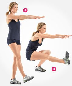 7 Squat Variations You NEED to Try - Photo by: Beth Bischoff http://www.womenshealthmag.com/fitness/types-of-squats