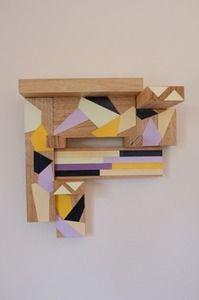 Very cool geometric wooden jewellery hanger from stampel studio.