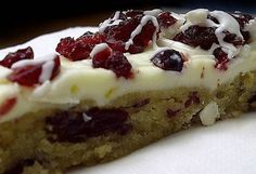 Cranberry Bliss Bars - HowToInstructions.Us