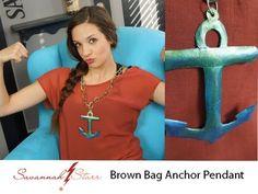How to Make a Brown Bag Anchor Pendant by Savannah Starr