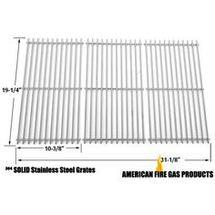 Stainless Steel Cooking Grid Replacement for select Gas Grill Models by Kenmore Jenn-Air, Brinkmann, Charmglow and Others, Set o