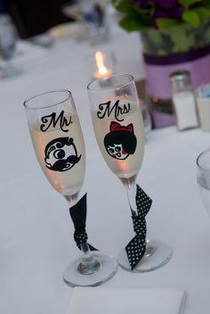 Boh Utz champagne flutes Baltimore wedding