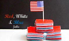 Red White and Blue Jello