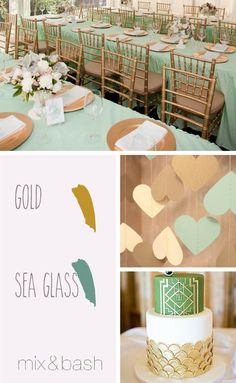 Bridal Shower Colors, Green Bridal Showers, Color Combos, Color Schemes, Sea Glass, Shower Ideas, Glow, Art Deco, Palette