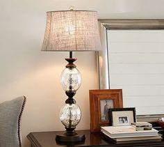 Stacked Mercury Glass Table Lamp Base  #potterybarn $150
