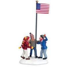 department 56 christmas story village triple dog dare who will get his tongue stuck on the frozen school flag pole handpainted and handcrafted from