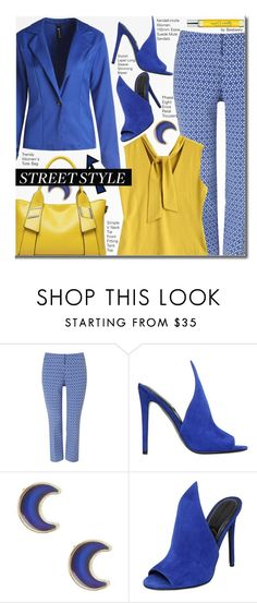"""""""Street Style (blue and yellow)"""" by beebeely-look ❤ liked on Polyvore featuring Phase Eight, Kendall + Kylie, claire's, Atelier Cologne, StreetStyle, sammydress, streetwear and polyvorefashion"""