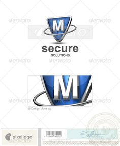 M Logo - 3D Letters Logo Templates  #logo #3d #technology #print #design #art #abstract #security #secure #solutions #futuristic #science