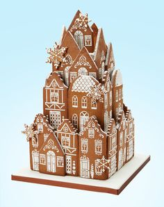 Gingerbread Village Table Centrepiece www.peggyporschen.com