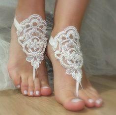 perles ivoire en dentelle de mariée, sandales, libèrent le bateau, : Mitaines, gants par binnur-yildirim