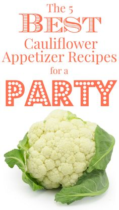 Who knew that cauliflower could be so flexible and exciting?! It truly is a unique vegetable, and these recipes help showcase many of its hidden abilities.