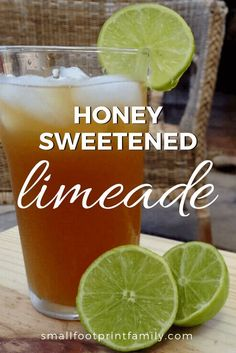 This refreshing honey limeade recipe is the perfect, crisp and delicious beverage to beat the end of summer heat. You can also sweeten it with stevia!