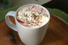 Red Velvet Hot Chocolate #chocolate #drinks