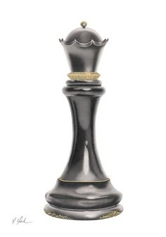 Yelena York - Queen of Chess. This is a print of the original painting by York. Please call Mouche Gallery Chess Pieces, Game Pieces, Chess Piece Tattoo, Queen Chess Piece, Wings Wallpaper, Paar Tattoo, Art Basel Miami, Queen Art, Mini Tattoos