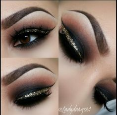 Smokey with Gold Liner MAKEUP