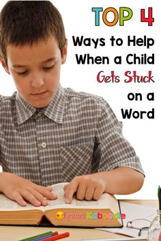 These top 4 ways to help your child or student when they get stuck on a word will make your child a more confident and independent reader! If you need tips and tricks to assist your child while reading out loud, you've come to the right place!