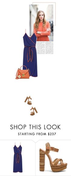 """""""soft summer day"""" by beingaries ❤ liked on Polyvore featuring Tory Burch, Schutz and Mark Cross"""