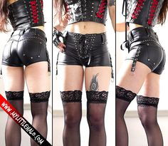 Leather Look Hotpants - My Little Halo http://www.mylittlehalo.com/