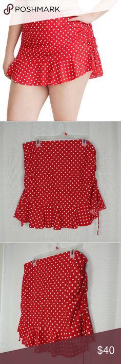 81d9611eeb3 Torrid Red and White Polka Dot Swim Skirt 1X