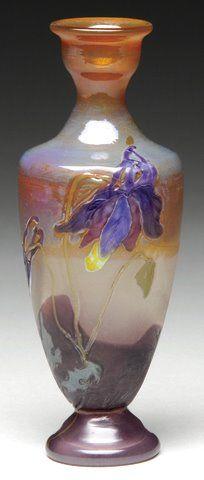 Magnificent Emile Galle Etude marquetry vase