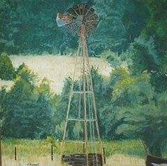 "The Windmill. Oil on Canvas. 30"" X 30"" Price - $425.00"