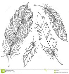 Find Vector Peerless Decorative Feather Tribal Design stock images in HD and millions of other royalty-free stock photos, illustrations and vectors in the Shutterstock collection. Thousands of new, high-quality pictures added every day. Feather Drawing, Feather Tattoo Design, Feather Painting, Feather Art, Tribal Tattoo Designs, Design Tattoo, Feather Crafts, Indian Feathers, Colorful Feathers