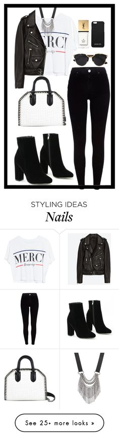 """Untitled #566"" by rockinstyles on Polyvore featuring River Island, Lovers + Friends, Jakke, STELLA McCARTNEY, Christian Dior, Yves Saint Laurent, MICHAEL Michael Kors and Simply Vera"
