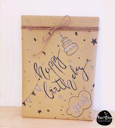 Lettering, Handlettering, Doodle, Verpacken, Packpaier, Geschenke