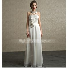 Elegant Ivory A Line Halter Beading Floor Length Wedding Dress . For every woman, wedding is a lifetime thing and the wedding dress is the most important part in wedding. It is the symbol of pure and noble love. This wedding dress features A-Line silhouette and halter, which makes you be the most beautiful woman in the wedding. With this wedding dress,you will be a beautiful bride for sure.  Size Bust Waist Hip Length For Height inch cm inch cm inch cm inch cm inch cm XS 29.92 76 23.23 59…