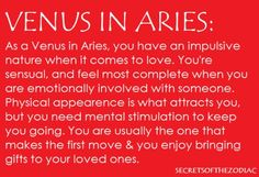 THE WORLD OF ASTROLOGY: Venus in Aries http://pinterest.com/pin/138485757263687314/?utm_content=bufferf6f24&utm_medium=social&utm_source=pinterest.com&utm_campaign=buffer #astrology #Venus #Aries #AriesVenus