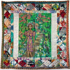 Maya's Quilt of Life goes on auction Sept 15, 2015. Est $150,000! Commissioned by Oprah, made by Faith Ringgold.