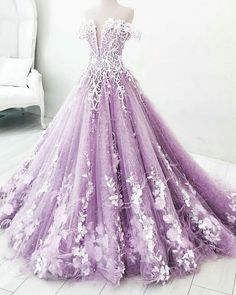 Buy Ball Gown Off the Shoulder V Neck Tulle Lavender Beads Prom Dresses, Quinceanera Dresses online.Shop short long ombre prom, homecoming, bridesmaid evening dresses at Couture Candy Cocktail party dresses, formal ball gowns in ombre colors. Ball Gowns Evening, Ball Gowns Prom, Ball Dresses, Formal Dresses, Ball Gowns Fantasy, 15 Dresses, Dresses Online, Long Evening Dresses, Formal Prom